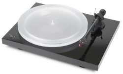 Pro-Ject Debut Carbon Esprit DC SpeedBox, pianosvart skivspelare med 2M Red