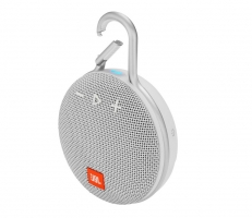 JBL Clip 3, portabel Bluetooth-högtalare, Steel White