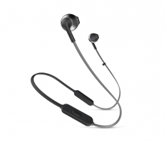 JBL Tune 205BT, in-ear hörlurar med Bluetooth, svart