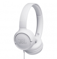 JBL Tune 500 on-ear hörlur, vit