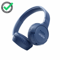 JBL Tune 660NC on-ear hörlurar med Bluetooth, brusreducering & Pure Bass, blå
