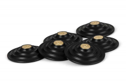 Solid Tech Floor Protectors, 6-pack svart