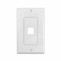 System One WP801 Wallplate, med 1 uttag