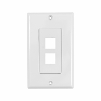 System One WP802 Wallplate, med 2 uttag