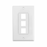 System One WP803 Wallplate, med 3 uttag