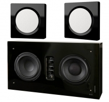 DLS D-One & Flatsub Stereo One 2.1 stereopaket, svart