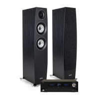 Advance Acoustic Playstream A5 & Jamo Concert C95 II Svarta, stereopaket