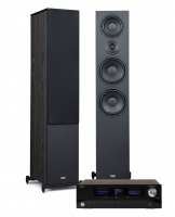Advance Acoustic Playstream A7 & Heco Aurora 1000 Svarta, stereopaket