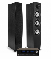 Advance Acoustic Playstream A7 & Jamo Concert C97 II Svarta, stereopaket
