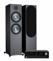 Advance Acoustic Playstream A7 & Monitor Audio Bronze 500 6G Svarta