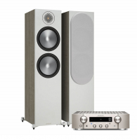 Marantz PM7000N Silver & Monitor Audio Bronze 500 6G Urban Grey