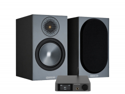 Dynavoice CA802BT & Monitor Audio Bronze 50 6G Svarta