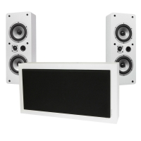 DLS Flatsub Stereo One & Dynavoice Magic LCR-5 EX v3, högtalarpaket