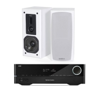 Harman Kardon HK3700 & Dynavoice Definition DX-5, vitt par