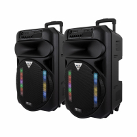 System One Partybox 15 högtalare med Bluetooth & karaoke, 2-pack
