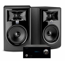 Advance Acoustic Smart DX1 & JBL 308P mkII Svarta, stereopaket