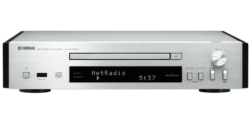 Moderne Yamaha CD-NT670D CD-spelare med nätverk och DAB, silver Yamaha HW-74