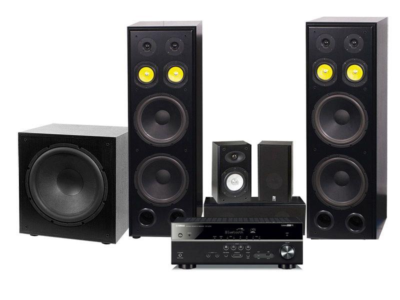 Yamaha HTR-4072   System One H212B högtalarpaket 5.1 i gruppen Paket    Kompletta paket d403013fe010e