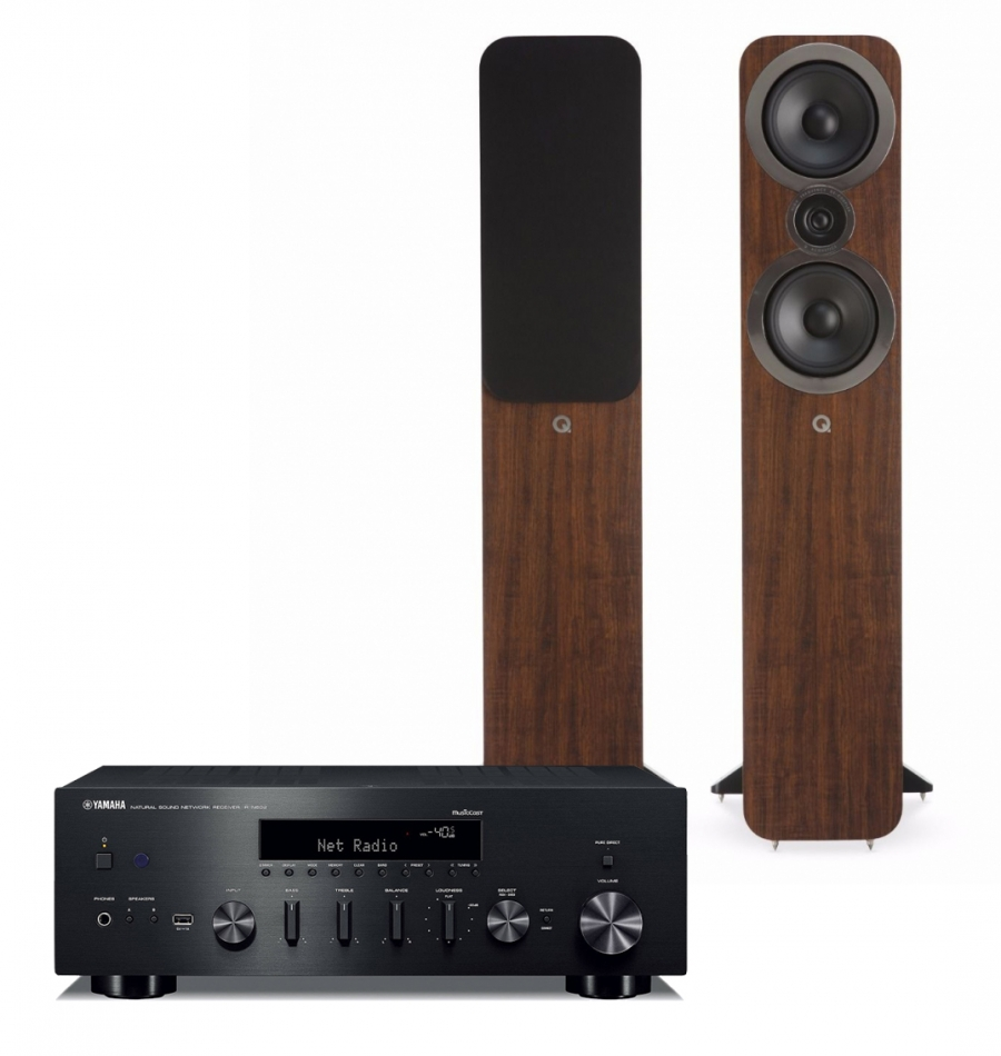 Yamaha R-N602   Q Acoustics 3050i valnöt 271916eb53ef4
