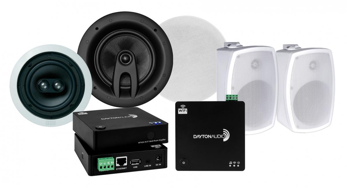 Dayton Audio WF40A med tre par högtalare i gruppen Multiroom   Paket hos  Ljudfokus.se 5fcbd55129f1b